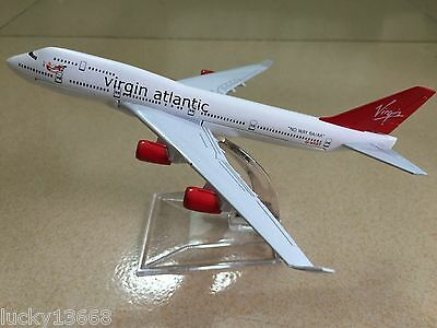 BRITISH VIRGIN ATLANTIC B747 Passenger Airplane Alloy Plane Metal Diecast Model