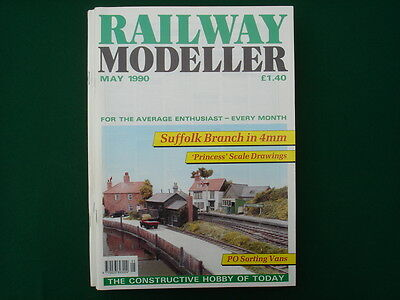 Railway Modeller magazines from 1990 pack of 4 issues