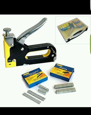3 In 1 Staple Gun Heavy Duty Hand Upholstery Staples 3 Way Stapler Nail Gun Diy