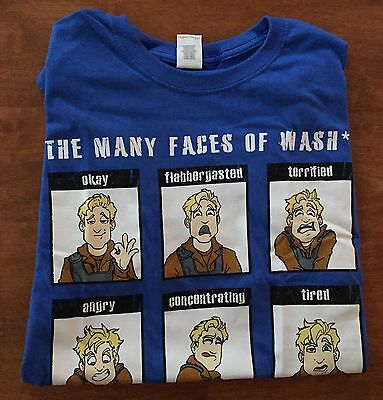 Loot/Cargo Crate Leaf On The Wind Hoban Wash TShirt Firefly/Serenity Large