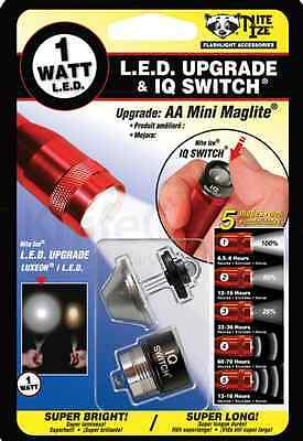 Niteize 1 watt LED AA mini maglite upgrade & IQ switch NIQ-07-1WC (U/C)