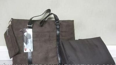 Foray Business Tote Bag Brown  Suede New Free Shipping