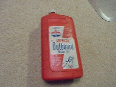Vintage One Quart American Oil American Outboard Motor Oil