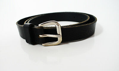 Marks and Spencer M&S Women Leather Belt Small Size Black