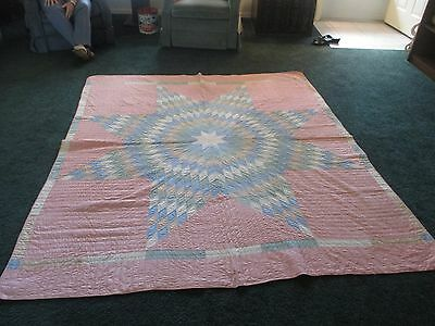 """Vintage ,LATE 20""""S,EARLY 30""""S,HANDSTITCHED,QUILT, NEVER USED ,COMPLETED ,82 X 72"""