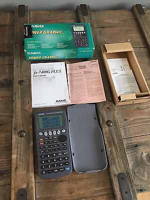 Casio FX-7400G Plus Calculator Complete Boxed Lovely Condition Free Post