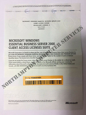 Microsoft MS Windows Essential Business Server 2008 5 CALs Client Access License