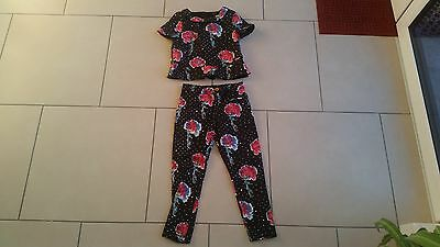 Cute Girls Autograph By M & S Top And Trousers Outfit...new...age 7-8