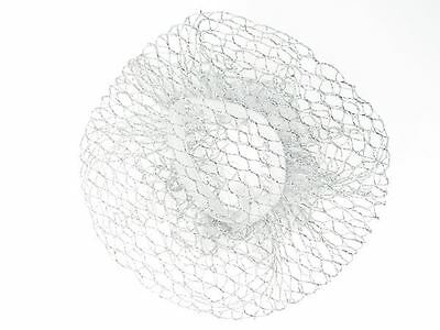 Silver Mesh Bun Hair Net Ballerina Ballet Dance Gymnastics Horse Riding UK