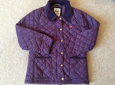 MINI BODEN Girl's 9 - 10 Purple Quilted Padded Jacket - With Hood