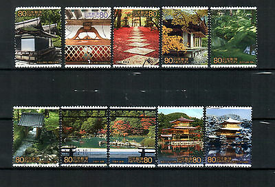 Japan 2001, Kyoto, used stamps.