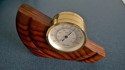 Vintage thermometer set in wood contemporary sytle