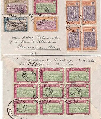 Cameroun 1935 Cover from Yaounde to Germany Franked both sides