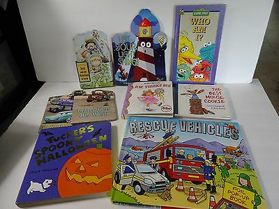 Mixed Lot of 9 Children's Board Books & Pop up Book Nice!