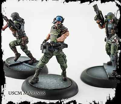 New AVP The Hunt Begins USCM colonial marines Miniatures