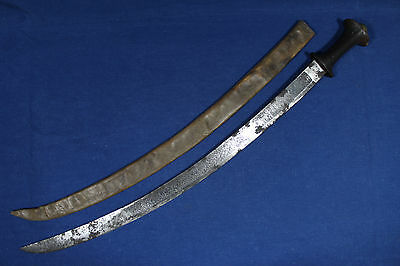 Antique Ethiopian gurade sabre (sword) with wood handle - Late 19th
