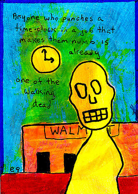 how zombies are made e9Art ACEO Walmart Outsider Art Brut Painting LowBrow Humor