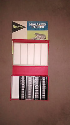 Boots slide magazine storer with four slide magazines