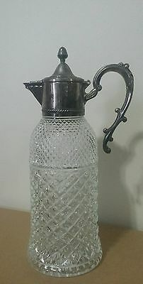 Vintage Silverplate Glass Pitcher made in Italy