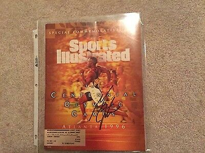 Michael Johnson Track and Field Olympics signed autographed sports illustrated