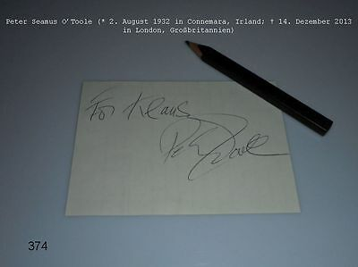 Peter O'Toole (+)  signiert - Autograph - Lawrence von Arabien - signed