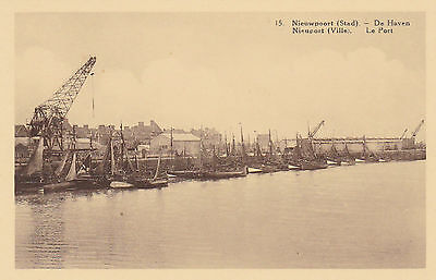 carte postale belgique nieuport   le port    de haven