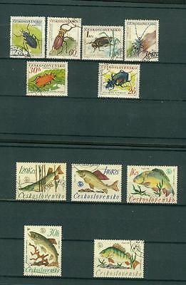 timbres   stamps     lot voir scans animaux