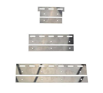 Stainless Steel Plate set for PVC Curtain Strips PACK of 10