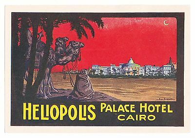Heliopolis Palace Hotel CAIRO Egypt luggage label Kofferaufkleber
