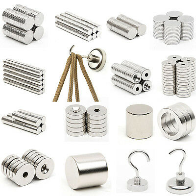 N52 Super Strong Cube Ring Round Disc Magnets Rare Earth Neodymium Magnets
