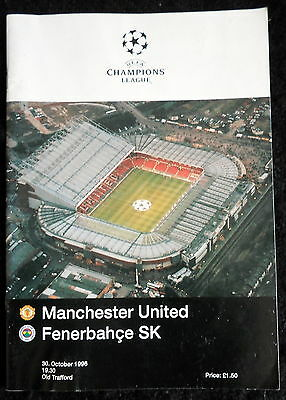 Manchester United v Fenerbahce  champions league  30-10-1966   Group C  match