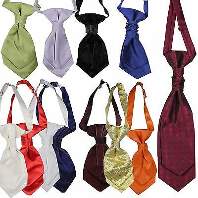 Boys Formal Cravat Boys Occasion Wear Cravats Kids Wedding Page Boy Tie