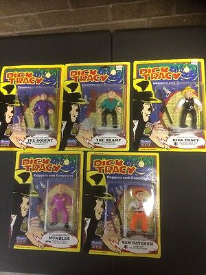 1990 Playmates Lot Of 5 Dick Tracy Action Figures NIP