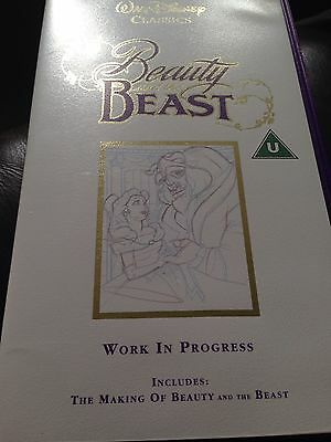 Walt Disney Classics Beauty And The Beast Video Vhs The Making Of Rare