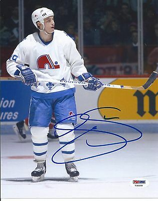 Joe Sakic Quebec Nordiques Signed 8x10 Photo Autographed PSA/DNA Y38358