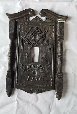 Fyfe and Drum Light Switch Plate by American Tack and Hardware