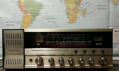 Realistic DX 160 5 Band Shortwave Receiver w/ SP 150 Speaker And More