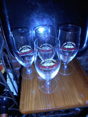 SET of  FOUR (4)   BEER GLASSES  - SCOTLAND'S INNIS & GUNN  - OAK AGED TREASURES