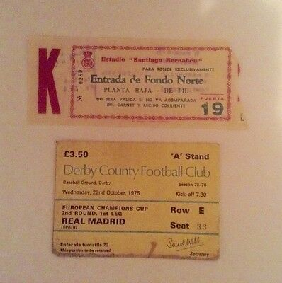 Derby County v Real Madrid home and away tickets