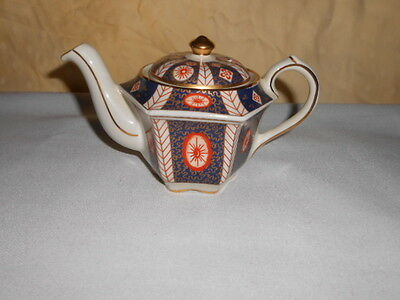 Sadler Teapot With Lid Mandarin 4733 Heirloom Collection Made in England