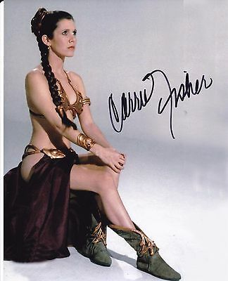 Carrie Fisher #1 autographed 8x10 Free Shipping