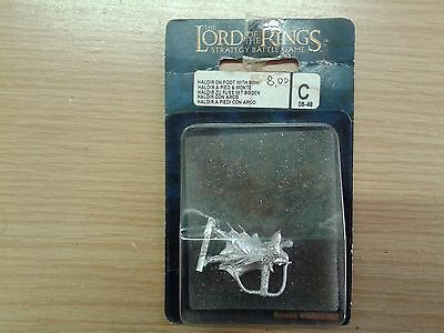 LOTR Lord Of The Ring HALDIR ON FOOT WITH BOW metal OOP sealed