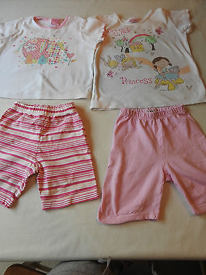 Girls 2 George shorts and 2 Cherokee tops age 4 - 5 years