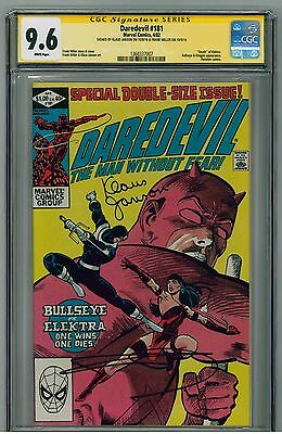Daredevil #181 (1982) CGC 9.6 SS - Signed by Miller / Janson - Death of Elektra