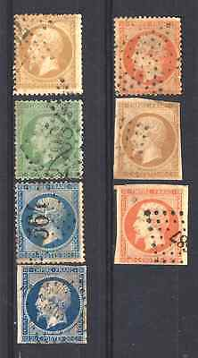 FRANCIA / FRANCE NAPOLEON III -  sellos usados - Lot old stamps, used