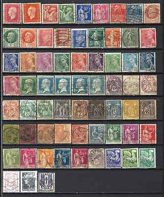 FRANCIA / FRANCE -  Lote sellos usados - Lot old stamps, used (2 scanns)
