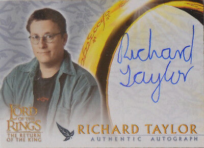 Richard Taylor Weta Return King Lord Rings LotR Auto Autograph Trading Card RotK