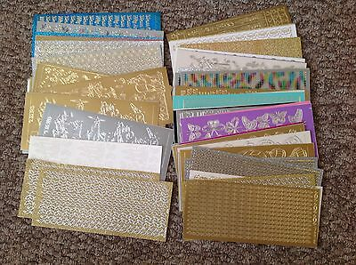 Job Lot Crafting card Stickers And Edgings embelishments  Craft Making Etc