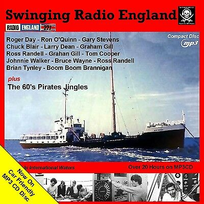 Pirate Radio Swinging Radio England Over 20 Hrs NOW on Car Friendly MP3 CD Disc