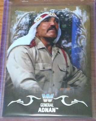 2016 Topps WWE Undisputed General Adnan Gold Parallel Card /10!!